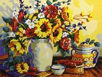 "Картина по номерам ""Чай с цветами"" (400x500 мм; арт. MG196)"