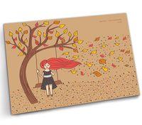"""Открытка """"Осенний ветер в волосах"""" (арт. 1104)"""