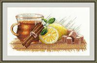 """Вышивка крестом """"Зимний чай"""" (300х360 мм)"""