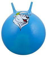 """Мяч-попрыгун """"Медвежонок"""" (65 см; с рожками; синий)"""