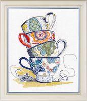"""Вышивка крестом """"Чайная коллекция"""" (210х250 мм)"""
