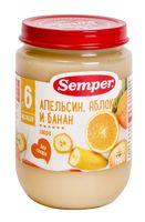 """Детское пюре Semper """"Апельсин, яблоко, банан"""" (190 г)"""