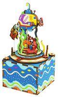 """Сборная деревянная модель """"Музыкальная шкатулка. Под водой"""""""