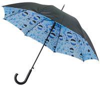 """Зонт полуавтоматический с двухслойным куполом """"Капли воды"""""""