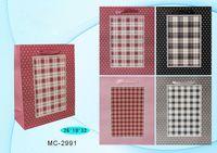 """Пакет бумажный подарочный """"Клетка"""" (в ассортименте; 26х32х10 см; арт. МС-2991)"""