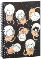 """Блокнот в клетку """"Котики космонавты"""" A5 (арт. 1353)"""