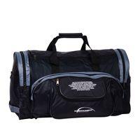 Спортивная сумка П01 (чёрно-серая)