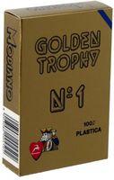 """Карты для покера """"Modiano Golden Trophy"""" (синяя рубашка)"""