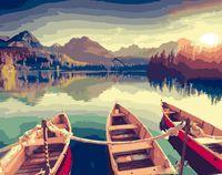 """Картина по номерам """"Три лодки"""" (400х500 мм)"""