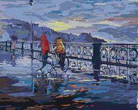 "Картина по номерам ""Велопрогулка под дождем"" (400х500 мм)"