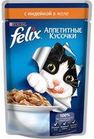 """Пресервы для кошек """"Аппетитные кусочки"""" (85 г; индейка в желе)"""