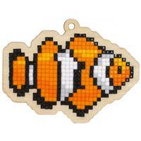 """Алмазная вышивка-мозаика """"Брелок. Рыбка-клоун"""" (86х65 мм)"""