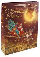 """Пакет бумажный подарочный """"Новогодний"""" (23х18х10 см; арт. 10399060)"""