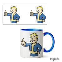 """Кружка """"Пип-бой из Fallout"""" (109, голубая)"""