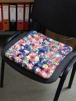 """Подушка на стул """"Concept Ecology. Цветы на синем"""" (40х40 см)"""