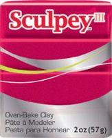 """Глина полимерная """"Sculpey III"""" (темно-красный перламутровый, 57 г)"""