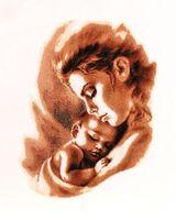 """Вышивка крестом """"Мадонна с младенцем"""" (230х300 мм)"""