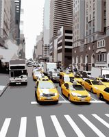 "Картина по номерам ""Желтое такси"" (400х500 мм)"