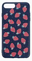 "Чехол для iPhone 8 plus ""More berries"" (тёмно-синий)"