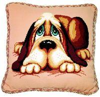 """Вышивка крестом """"Подушка Собака"""""""