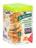 """Хлебцы кукурузно-рисовые """"Dr. Körner. С чиа и льном"""" (100 г)"""
