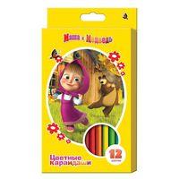 """Цветные карандаши """"Маша и Медведь"""" (12 цветов)"""