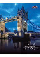 """Тетрадь в клетку """"Ночной город. Лондон"""" 48 листов"""