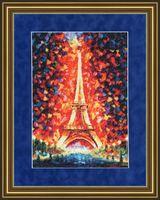 """Вышивка крестом """"Ночной Париж"""" (384x273 мм)"""