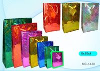 """Пакет бумажный подарочный """"Голография"""" (в ассортименте; 8x10x4 см; арт. МС-1438)"""