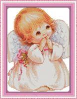 """Вышивка крестом """"Очаровательный ангелочек"""" (290х350 мм)"""