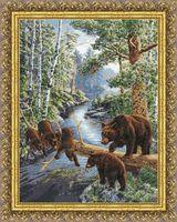"Вышивка крестом ""Медвежий край"" (466х350 мм)"