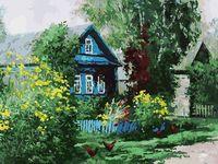 """Картина по номерам """"Домик в деревне"""" (300х400 мм)"""