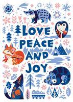 "Открытка ""Love peace and joy"""