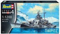 """Сборная модель """"Немецкий линкор Tirpitz"""" (масштаб: 1/1200)"""