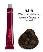 """Крем-краска для волос """"Collage Creme Hair Color"""" (тон: 6/06, темный блондин теплый)"""