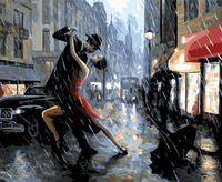 """Картина по номерам """"Танец под дождем"""" (400х500 мм)"""