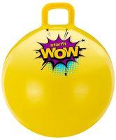"""Мяч-попрыгун """"GB-0402 WOW"""" 55 см (с ручкой; жёлтый)"""