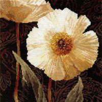 """Вышивка крестом """"Белые цветы. Открытый свету"""""""