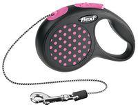 """Поводок-рулетка для собак """"Design"""" (розовый, размер XS, до 8 кг/3 м)"""