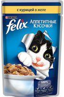 """Пресервы для кошек """"Аппетитные кусочки"""" (85 г; курица в желе)"""