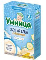 """Детская каша Умница """"Овсяная с бананом"""" (200 г)"""
