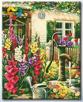 """Картина по номерам """"Цветочный водопой"""" (400x500 мм; арт. HB4050292)"""