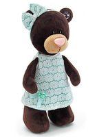 """Мягкая игрушка """"Медведь Milk в платье цвета мяты"""" (25 см)"""