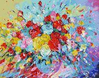 """Картина по номерам """"Фейерверк из роз"""" (400х500 мм)"""