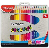 """Набор карандашей цветных """"Color Peps"""" (24 цвета; в металлической коробке)"""