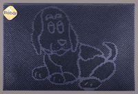 """Коврик резиновый """"Собака"""" (40х60 см; черный)"""