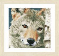 "Вышивка крестом ""Волк"" (350х350 мм)"