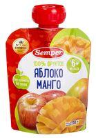 """Детское пюре Semper """"Яблоко и манго"""" (90 г)"""