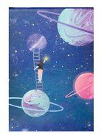 """Зеркало настольное """"Космос. Фиолетовые планеты"""" (арт. KW006-000034)"""