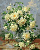"Картина по номерам ""Букет белых роз"" (400x500 мм; арт. MG612)"